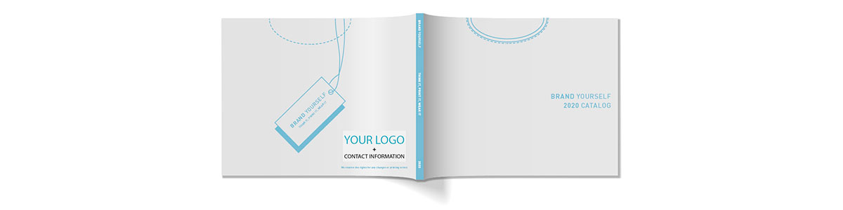 Your logo on the catalog